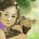 Girl with Hyena