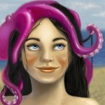 Girl with tentacle-hat