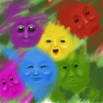 happy little colors